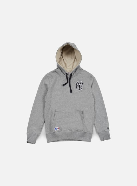 felpe new era mlb pullover hoody ny yankees light grey heather