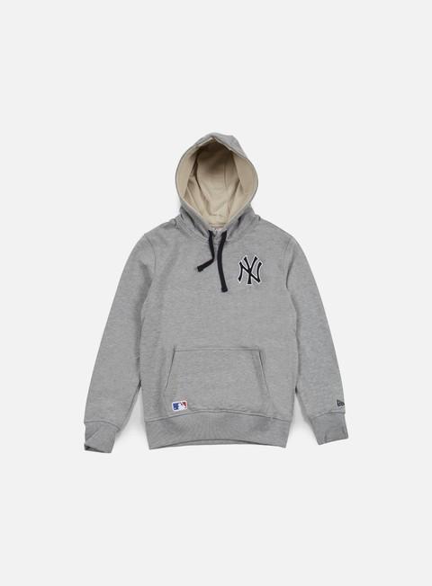 felpe new era mlb pullover hoody ny yankees light grey heather