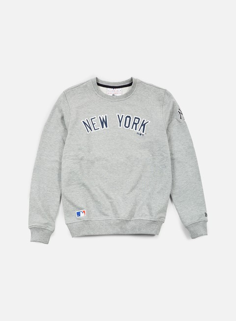 felpe new era mlb team crewneck ny yankees light grey heather