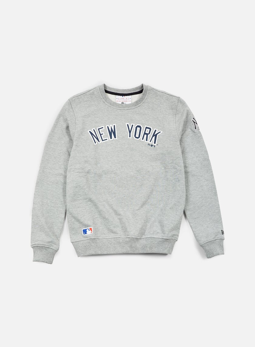 New Era - MLB Team Crewneck NY Yankees, Light Grey Heather