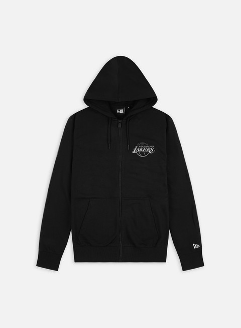 New Era NBA Back Fade Logo Zip Hoodie LA Lakers