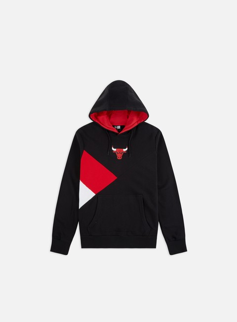Felpe con Cappuccio New Era NBA Colour Block Hoodie Chicago Bulls