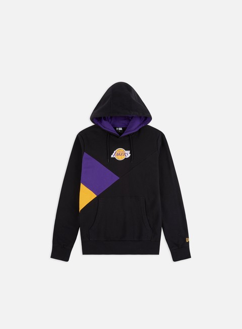 Felpe con Cappuccio New Era NBA Colour Block Hoodie LA Lakers