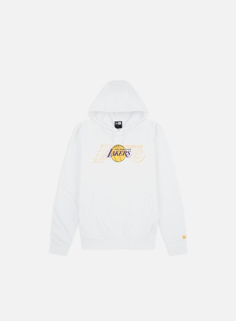 Felpe con Cappuccio New Era NBA Graphic Overlap Hoodie LA Lakers