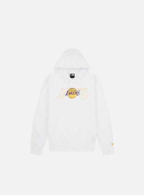 Outlet e Saldi Felpe con Cappuccio New Era NBA Graphic Overlap Hoodie LA Lakers