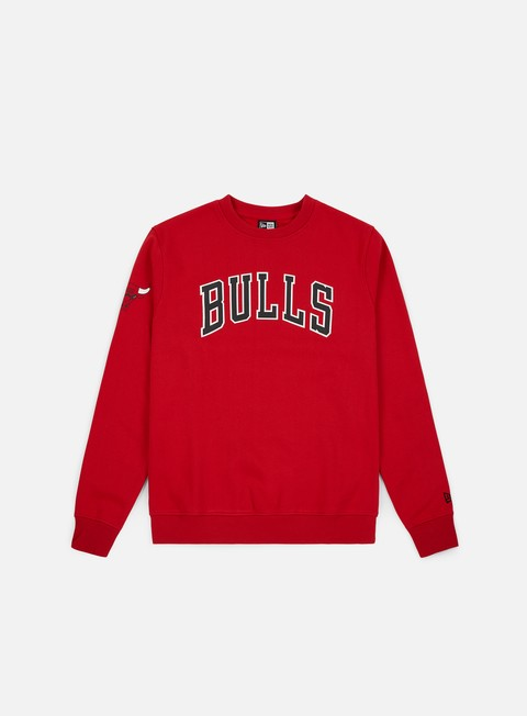 Crewneck Sweatshirts New Era NBA Team Apparel Crewneck Chicago Bulls