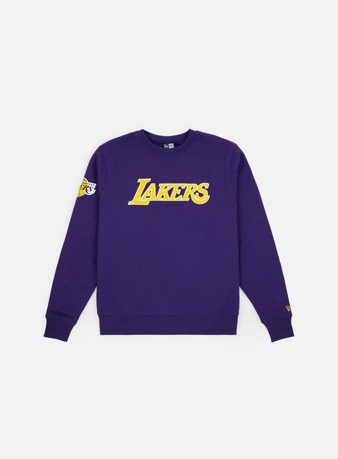 Crewneck Sweatshirts New Era NBA Team Apparel Crewneck Los Angeles Lakers
