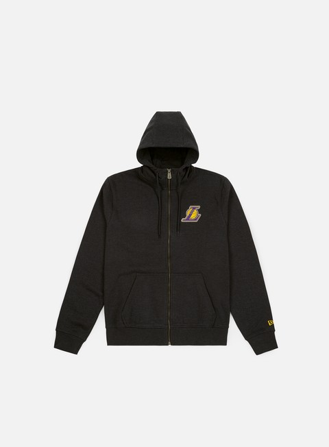 Felpe con Zip New Era NBA Team Apparel Hoodie Los Angeles Lakers
