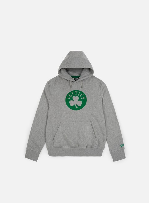 felpe new era nba team pop logo hoody boston celtics light heather grey