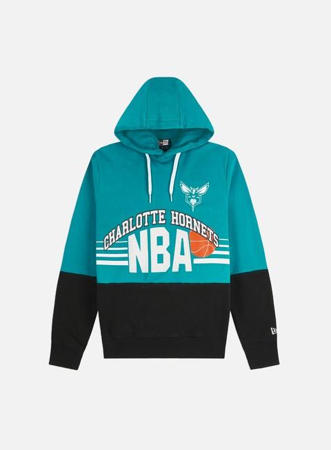 Outlet e Saldi Felpe con Cappuccio New Era NBA Throw Back Hoodie Charlotte Hornets