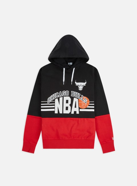 Felpe con Cappuccio New Era NBA Throw Back Hoodie Chicago Bulls