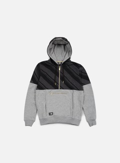 New Era - Neue Luxx French Terry Half Zip Hoody, Light Grey Heather 1