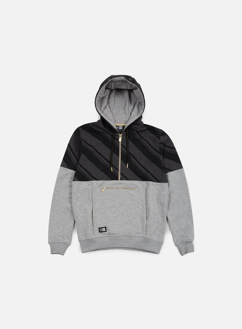 New Era - Neue Luxx French Terry Half Zip Hoody, Light Grey Heather