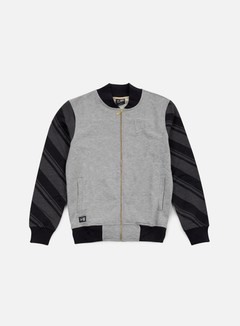 New Era - Neue Luxx French Terry Varsity Jacket, Light Grey Heather 1