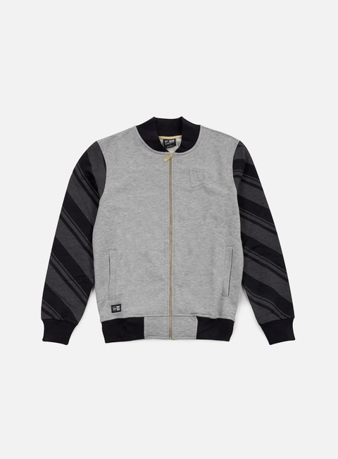 felpe new era neue luxx french terry varsity jacket light grey heather