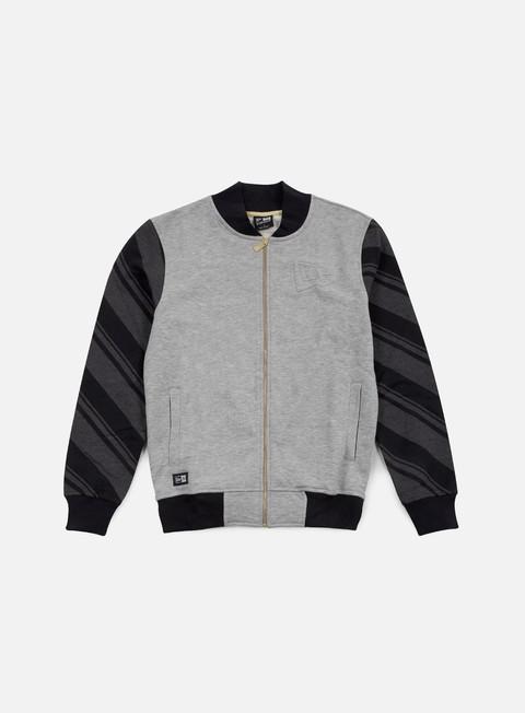 felpe new era neue luxx french terry varsity jacket light grey heather