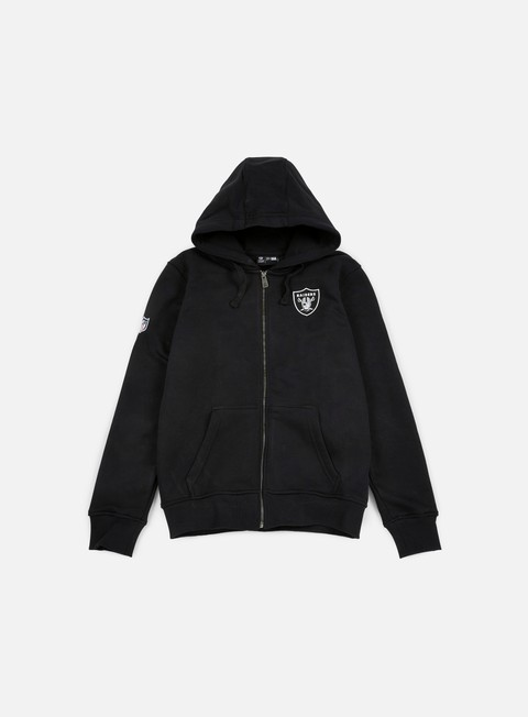 felpe new era nfl full zip hoody oakland raiders black