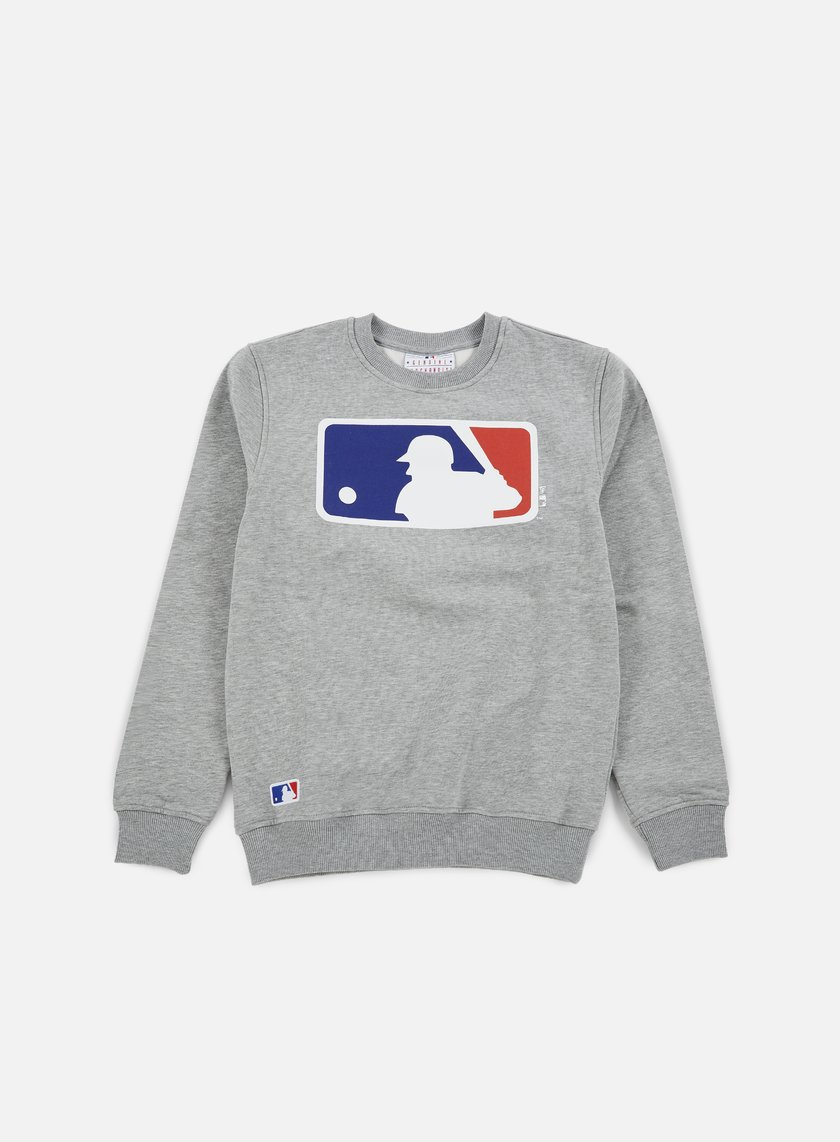 New Era - NOS Crewneck MLB Logo, Light Grey Heather