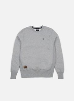 New Era - Premium Classics Fleece Crewneck, Light Grey Heather 1