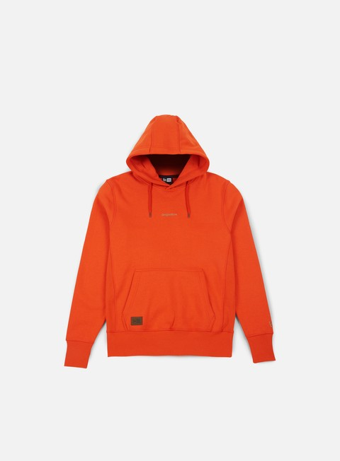 felpe new era premium classics fleece hoody orange