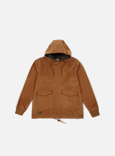 felpe new era premium classics wool hoody khaki