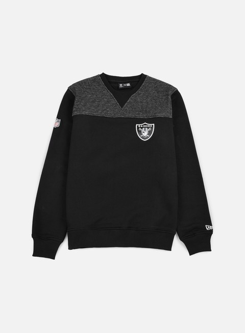 felpe new era remix ii crewneck oakland raiders black