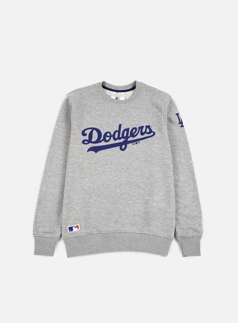 felpe new era ta crewneck la dodgers light grey heather