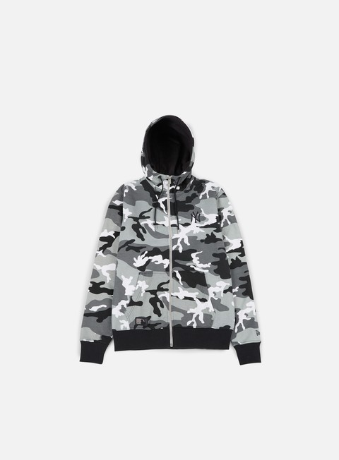 Felpe con Cappuccio New Era Team Apparel Camo Full Zip Hoody NY Yankees