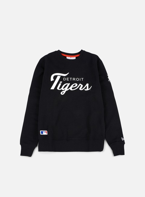 felpe new era team apparel crewneck detroit tigers black