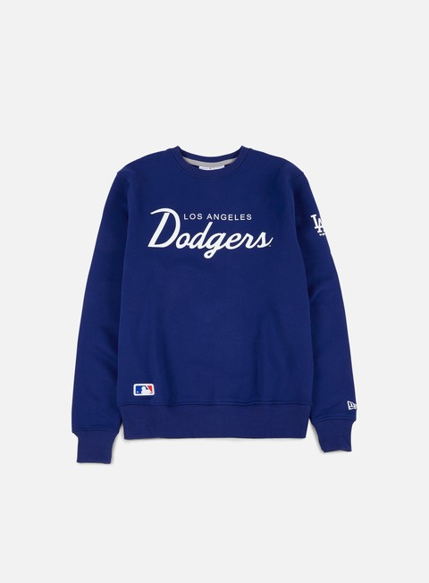 felpe new era team apparel crewneck la dodgers deep royal blue