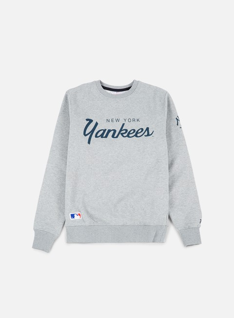 felpe new era team apparel crewneck ny yankees light grey heather