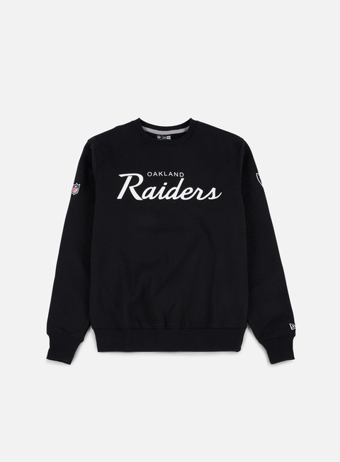 felpe new era team apparel crewneck oakland raiders black