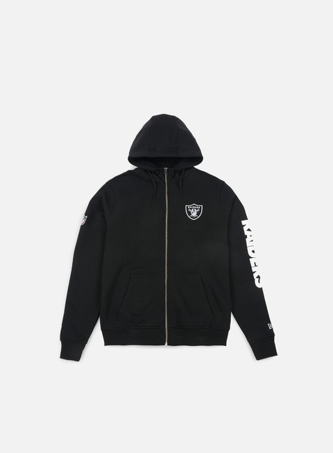 felpe new era team apparel full zip hoody oakland raiders black