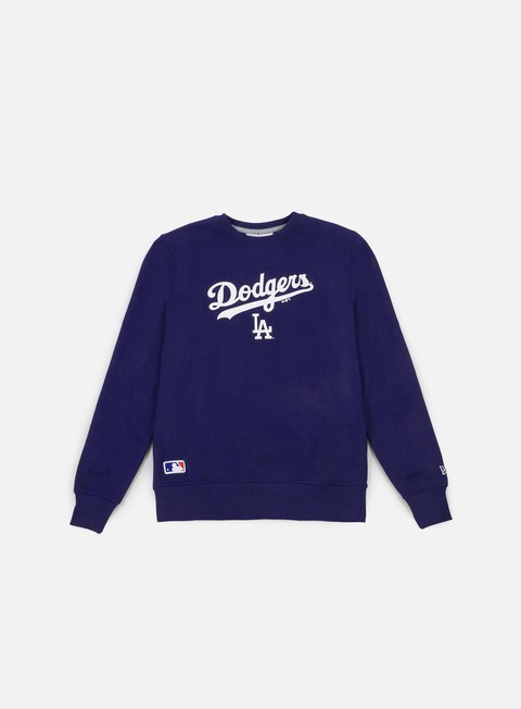 felpe new era team apparel logo crewneck la dodgers deep royal blue