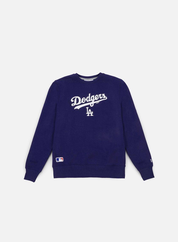 New Era - Team Apparel Logo Crewneck LA Dodgers, Deep Royal Blue