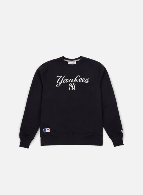felpe new era team apparel logo crewneck ny yankees navy