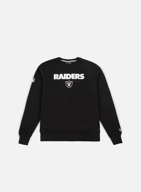 felpe new era team apparel logo crewneck oakland raiders black