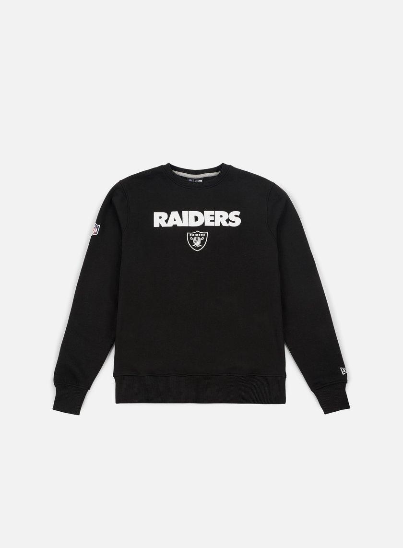 New Era Team Apparel Logo Crewneck Oakland Raiders
