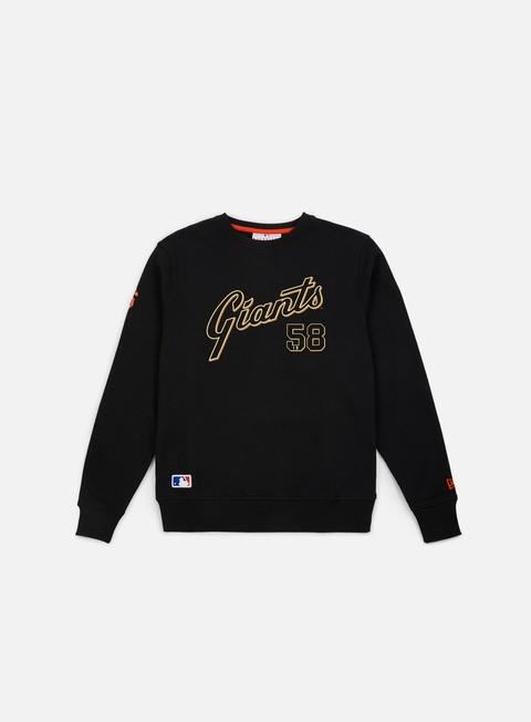 felpe new era team apparel script crewneck san francisco giants black