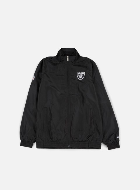 felpe new era team apparel track jacket oakland raiders black
