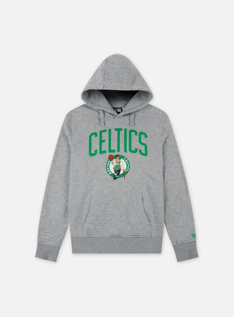 felpe new era team logo hoody boston celtics light grey heather