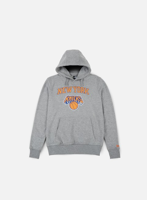felpe new era team logo hoody new york knicks light grey heather