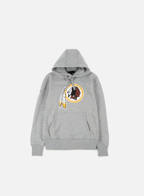 felpe new era team logo hoody washington redskins heather grey