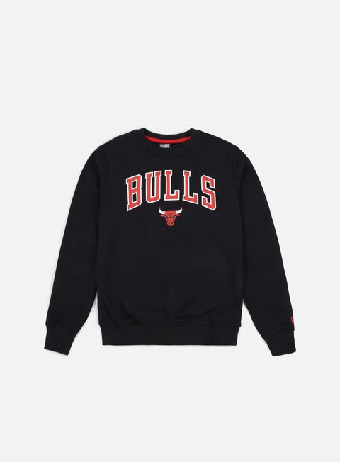 felpe new era tip off crewneck chicago bulls black