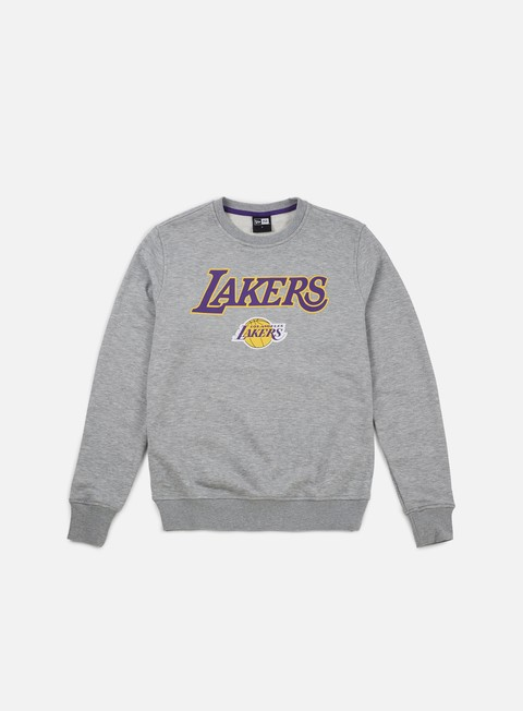 felpe new era tip off crewneck la lakers light grey heather