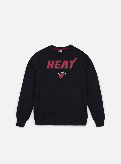 felpe new era tip off crewneck miami heat black