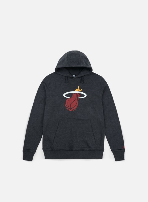felpe new era tip off hoody miami heat dark grey heather