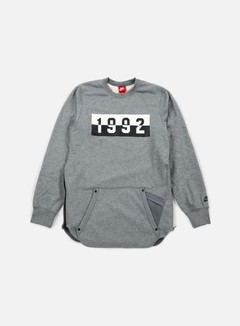 Nike - 1992 Air Crewneck, Carbon Heather/Black 1