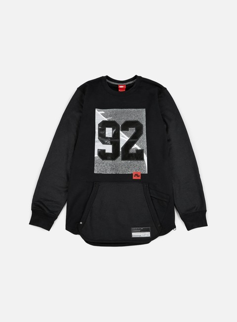 felpe nike 92 air crewneck black black