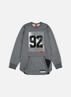 Nike - 92 Air Crewneck, Dark Grey Heather/Black 1
